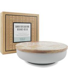 Bamboo Salad Bowl with Acacia Wood Lid - Eco Friendly Serving Bowls for Fruits