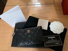 100% Authentic Classic Chanel Mini O Case Black Caviar w/ Burgundy and GHW- RARE
