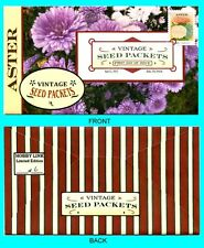 Aster - Vintage Seed Packets  First Day Cover with Color Cancel