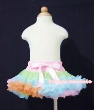 Newborn Baby Rainbow Premium Pettiskirt Petti Skirt Dance Tutu Dress Girl 3-12M