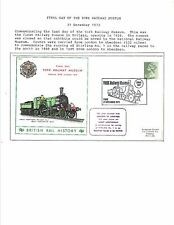 1973 TOPICAL RAILROAD COVER YORK RAILWAY MUSEUM FINAL DAY COMMEMORATIVE COVER