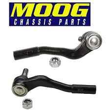 Mercedes Pair Set of 2 Front Outer Steering Tie Rod Ends Moog ES80687 ES80688