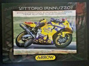 Vintage Poster Vittorio Iannuzzo 2002 Alstare Suzuki Corona GSX-R1000