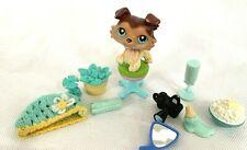 Littlest Pet Shop Collie Sage #58 Paws Up w/ 10 Accessories Authentic Hasbro LPS