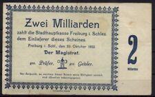 [15732] - Notgeld FREIBURG i. SCHLESIEN (heute: Świebodzice), Stadt, 2 Mrd Mk, 2