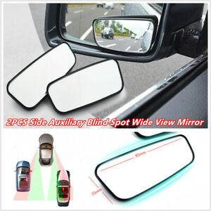 2× Car RV Side Auxiliary Blind Spot Wide Angle Mirror Small Rearview Truck Safe