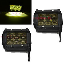 Amber 18W 6 CREE LED 4D LENS Work Light/Spot/Off Road Bike Fog Lamp For TVS