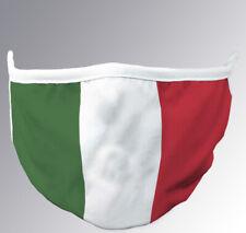 Copri Bocca Naso ITALIA Cotone Lavabile Protezione Viso Riutilizzabile