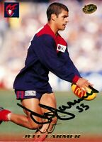 ✺Signed✺ 1999 MELBOURNE DEMONS AFL Card JEFF FARMER