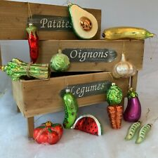 Fun Painted Glass Fruit & Vegetable Hanging Decoration Gislela Graham Christmas