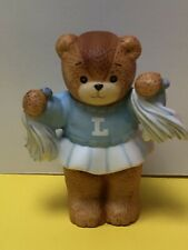 So Cute Lucy & Me Cheerleader Blue Pom Poms Lucy Rigg Enesco Bear Mint!