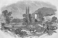 UKRAINE. Chernaya. Tchourgoun, nr Sardinian Camp, antique print, 1855