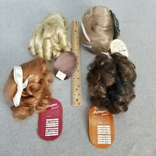 4 Doll wigs wig Lot size 14 & 15 for My Twinn size Doll or vintage antique Doll