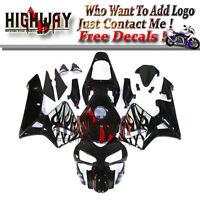 Fairings For Honda CBR600RR F5 03 04 ABS Fairing Kit Bodywork Black Grey Flames