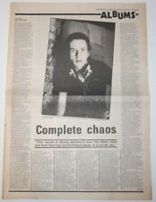 THE CLASH Sandinista 1980 Original LP NME Full Page Review UK Article clipping