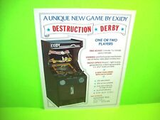 Exidy DESTRUCTION DERBY Original Classic Video Retro Arcade Game Sale Flyer 1975