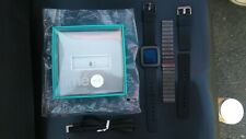 Pebble Time 759F Stainless Steel Case Jet Black Classic Buckle Bundle 501-00020