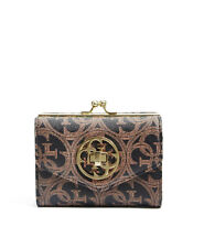 NWT GUESS Heritage Frame coin Wallet Purse Clutch Logo Print Small Brown