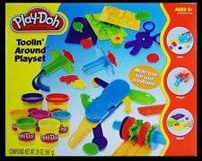 Play Doh Toolin Around Playset 10 tools 7 Cans Educational Toy Fun Learning Toy