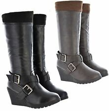 Unbranded Wedge Knee High Boots for Women