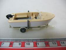 H378-0,5# WIKING H0 Anhänger mit Motorboot, 95, NEUW