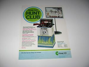 1976 Chicago Coin Hunt Club Arcade game Original sales flyer brochure