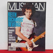 Keith Richards Musician Magazine The Rolling Stons Beatles Forbert October 1988!
