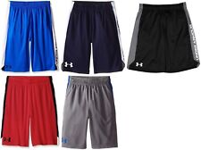 Under Armour UA Boys Youth Prototype & Eliminator Shorts 8-20 Blue Black Grey