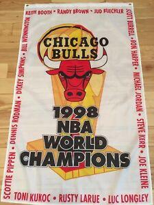 "3'x5' 1998 Chicago Bulls NBA Championship banner/flag - ""The Last Dance"""