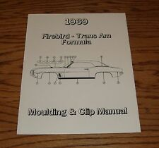 1969 Pontiac Firebird Trans Am Formula Moulding & Clip Manual 69