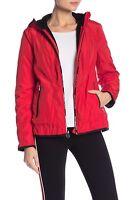 Michael Kors Plush Lined Windbreaker Jacket Red Sz XSmall New
