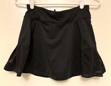 Avia Girl's Large L 10/12 Solid black Golf Tennis Workout Skirt Skort mesh sides
