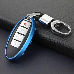 For Nissan Infiniti Qashqai X-Trail Car Key Fob Case Chain Cover Accessories
