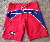 MONTREAL CANADIENS Large Logo Swim Shorts - Board Shorts