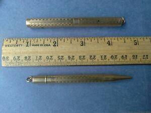 Vintage Conklin Toledo Rolled Gold Mini Fountain Pen Pencil Set - Personalized