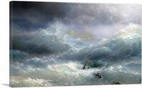 ARTCANVAS Wave 1889 Canvas Art Print by Ivan Aivazovsky