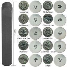 6mm horseshoe wishbone snowflake christmas diamond tree punch metal stamp tool