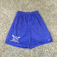 VTG 90s Nike Men Sz M Nylon Mesh Basketball Baseball Shorts Blue Purple Retro