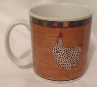 SAKURA WARREN KIMBLE COUNTRY QUARTET ROOSTER BRANDON HOUSE COFFEE MUG CUP BROWN