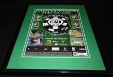 World Series of Poker 2005 XBox PS1 Framed 11x14 ORIGINAL Advertisement
