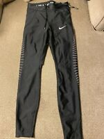 Women's Nike Dri Fit Running Speed Tights 7/8 Compression Pants Black Pink XS