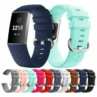 Replacement Watch Strap Silicone Wristband Bracelet Band for Fitbit Charge 3