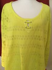 Hearts Of Palm Woman's Plus Pineapple Colored Top NWT Tie Bottom 3X Ret. $58.00