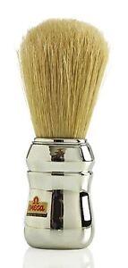 Omega 48 10048 Boar Bristle Shaving Brush - Silver Professional