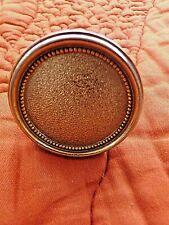 Poignée de porte en bronze ronde perlée dorée à l'or fin