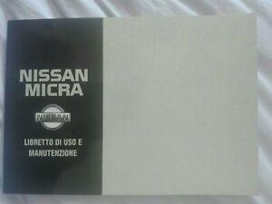 Libretto manuale istruzioni uso e manutenzione Nissan Micra K11 originale ITA