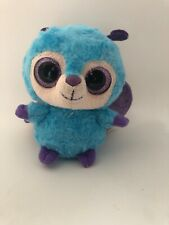 "Musical Yoohoo  & Friends Wispee the Butterfly 5"" Plush Big Eyes Blue and Purple"