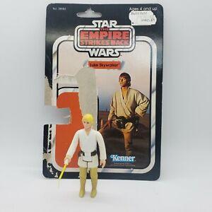 Vintage Star Wars ESB Luke Skywalker Farmboy Complete w/ CardBack Repaired Neck