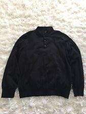 New J Crew Men's Polo Sweater in Pima Cotton Black Sz XXL H5785