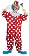 SALE! Adult Funny Dotted Circus Clown Mens Fancy Dress Stag Party Costume Outfit